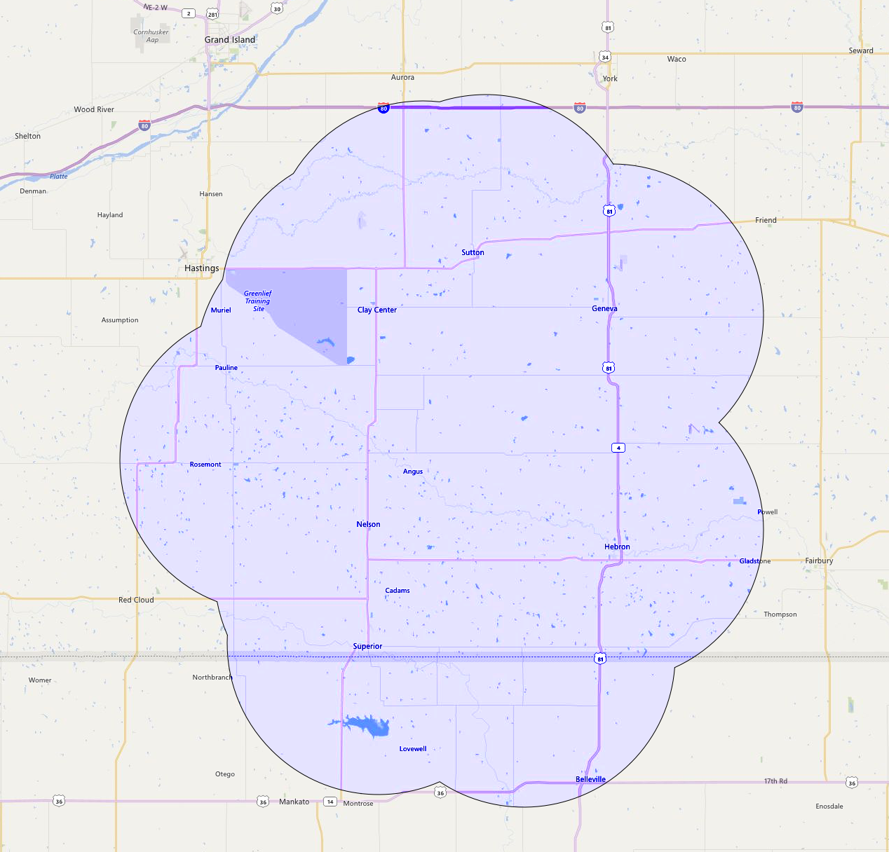 Superior iNET Coverage Map